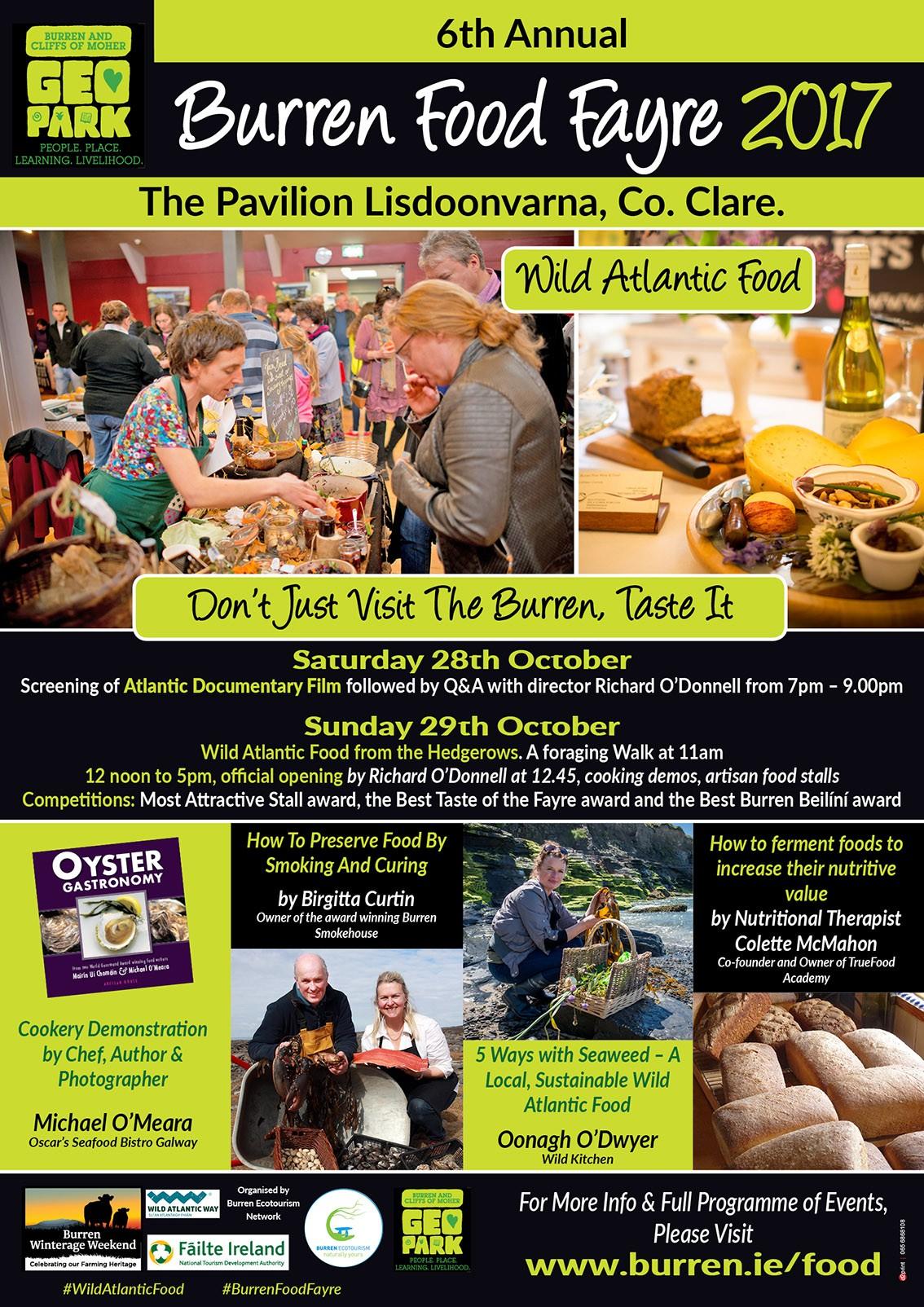 Burren food fayre, taste the Burren, eco-friendly