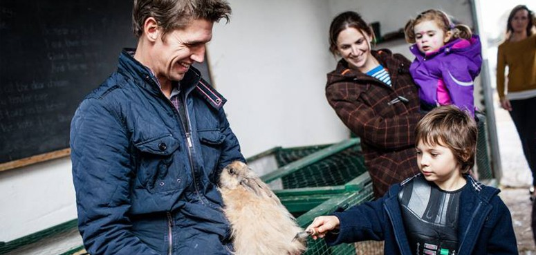 The Farmyard - brushing a rabbit, family attraction, Burren, Clare