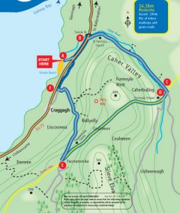 Caher Valley Loop Walk Map