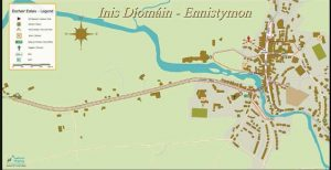 Ennistymon historical town map, heritage, Clare reconnect
