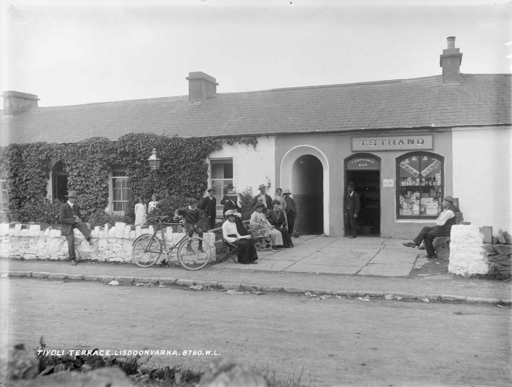 Old picture Lisdoonvarna, Irish heritage, reconnect