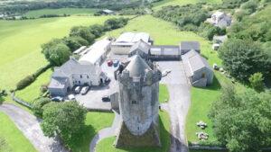 Aerial picture Newtown Castle, escape adventure
