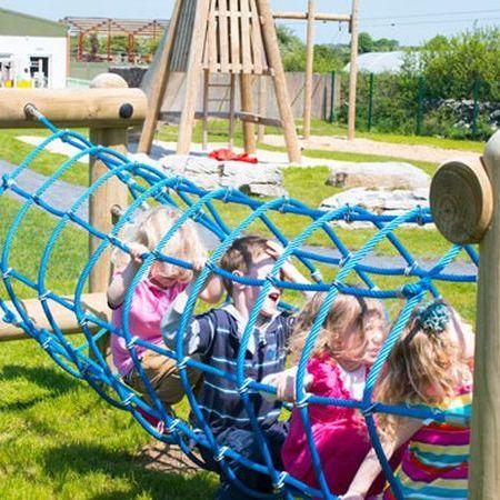 Outdoor children's playground at Burren Nature Sanctuary, family friendly