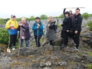 Happy walking group, reconnect with nature, wild Atlantic way
