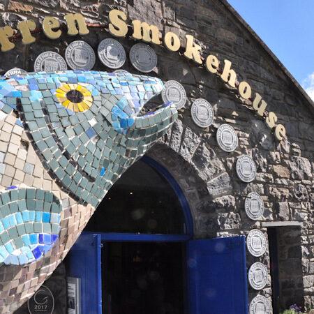 Salmon Mosaic at the Burren smokehouse, salmon, seafood