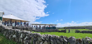 Viewing area for sheep dog demonstrations, fun, vacations,