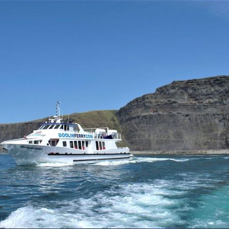 Doolin Ferry Company Boat, trips to the Aran islands, Cliffs of Moher Cruises