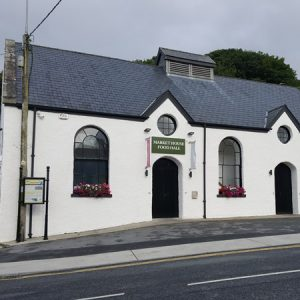 Exterior of the Market House Food hall, Ennistymon, Butcher, local food products
