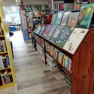 Book shelves full at Banner Books, Ennistymon, educational, escape