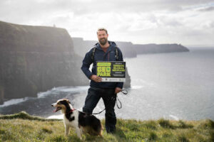 Walking along the Cliffs of Moher with Cormac's Coast, dog, adventure