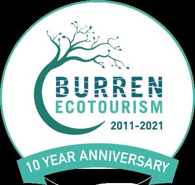 Burren Ecotourism 10 year Anniversary Logo, vacation, escape reunite