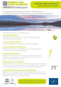 Burren, Geopark Code of Practice for sustainable tourism