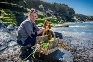 Seashore foraging, Burren Food Trail, Tasting the produce, food producers, local, organic,